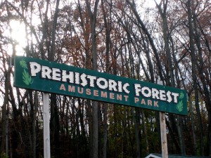 The sign for Ohio's Prehistoric Forest. From Flickr user erikadotnet.