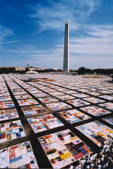 Unfolding the AIDS Memorial Quilt at the Folklife Festival | At ... : memorial quilt makers - Adamdwight.com