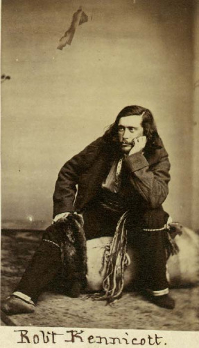 Robert Kennicott (1835-1866), explorer and naturalist, in his field clothes. Photo courtesy of Smithsonian Archives.