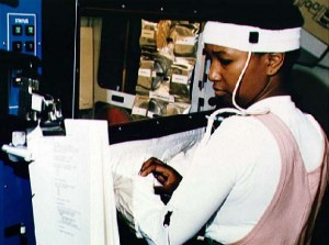Mae Jemison training for her shuttle flight in 1992.