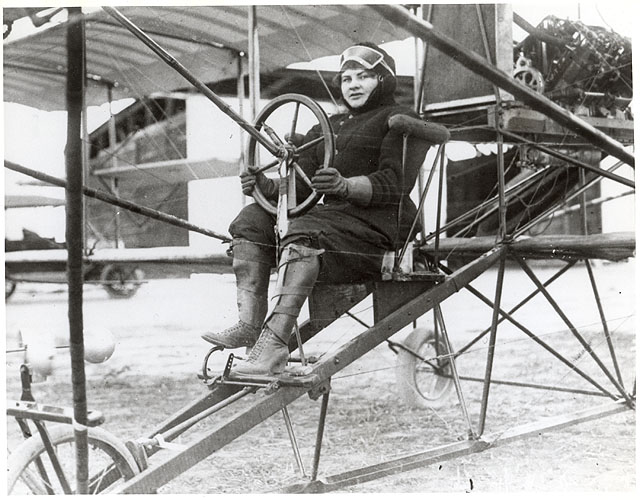 Scott in a Curtiss Model D