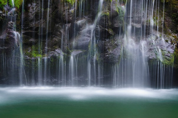 Mossbrae Falls flowing into the Sacramento River