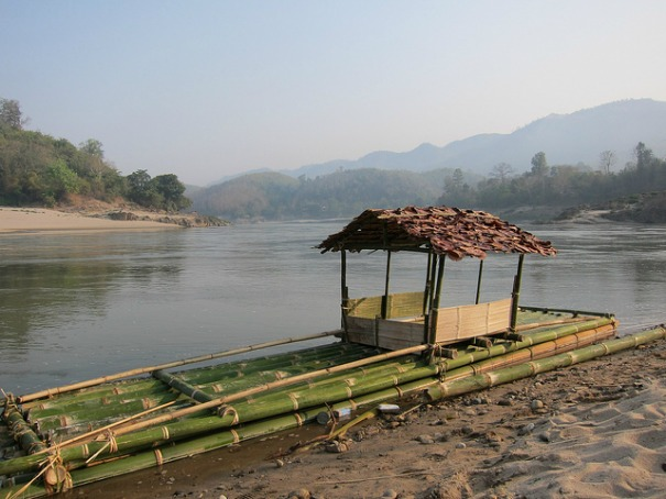 Ceremonial boat on the Salween River
