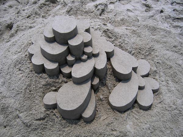 Modernist sandcastle by Seibert