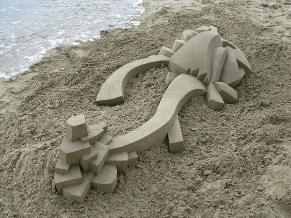 Geometrically Modern Sandcastle by Calvin Seibert