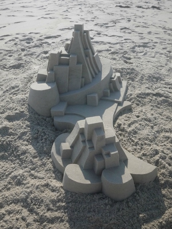 Modern Architecture Sandcastle by Calvin Seibert