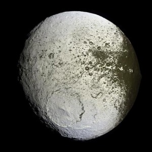 Photograph of Iapetus taken by the Cassini spacecraft. (Image credit: NASA/JPL/Space Science Institute)
