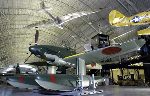 Aichi Seiran at the Steven F. Udvar-Hazy Center (Carolyn Russo/NASM)