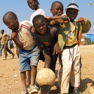 If you brought a ball and a pump, these kids might let you play.