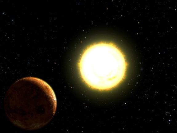 Super Earth and Sun