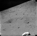 Lunar craters of all sizes appeared in the TV images.