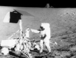 More than two years after Surveyor 3 touched down, Apollo 12 astronauts visited the landing site.