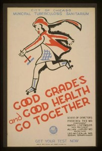 City of Chicago Municipal Tuberculosis Sanitarium poster promoting tuberculosis testing.  Courtesy of Library of Congress