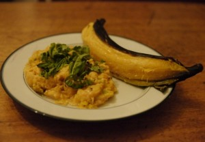 Ripe plantains may be baked and served as a Central American rendition of sweet potatoes. Photo by Andrew Bland.