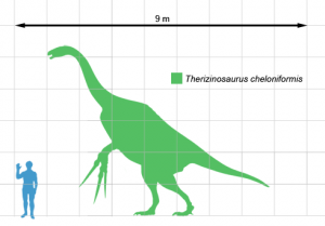 The silhouette of Therizinosaurus, one of the dinosaurs likely to appear in Reign of the Dinosaurs. From Wikipedia.