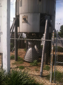 A Titan I missile guards the Gas-N-Go outside Cordele, GA