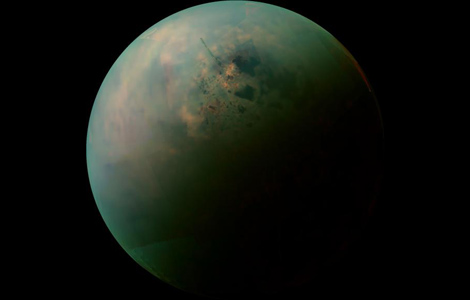 Titan as seen by infrared sensors on Cassini.