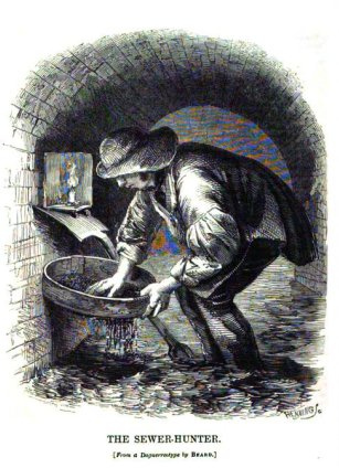 quite likely the worst job ever history smithsonian a tosher at work c 1850 sieving raw sewage in one of the dank dangerous and uncharted sewers beneath the streets of london from hew s london labour