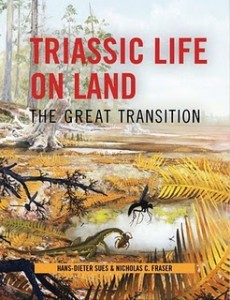 The cover of Triassic Life on Land: The Great Transition