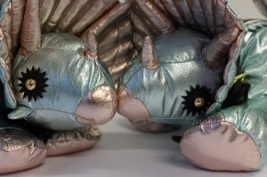 Triceratops handbags by designer Giles Deacon.