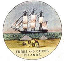 "The badge of the Turks and Caicos, which adorned its flag until it became a standalone crown colony during the 1970s, was inspired by the local salt trade. Between 1874 and 1966, thanks to a foul-up in London, the right hand of the two piles of salt was given a smudgy black ""door""–product of a civil servant's ignorant assumption that the islands lay somewhere in the Arctic."