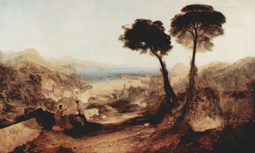 Baiae and the Bay of Naples, painted by Turner in 1823 well before modernization of the area obliterated most traces of its Roman past. Image: Wikicommons.