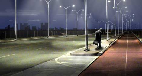 Clever? Smart Street Lamps Light Up Only When Needed