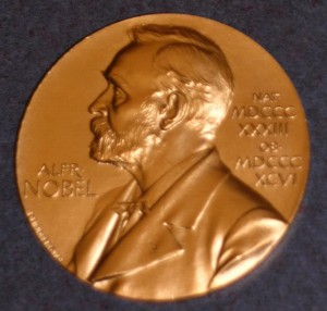 John Mather's Nobel Prize medal was returned to its recipient. Courtesy of the Smithsonian Air and Space Museum.