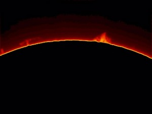 The sun, as photographed by Erin Braswell, Smithsonian Public Observatory Project on Sept. 8, 2010