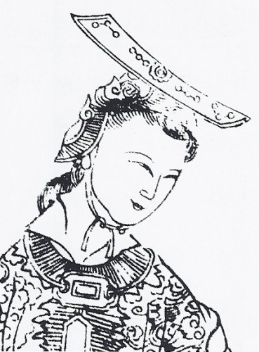 A seventeenth century Chinese depiction of Wu, from Empress Wu of the Zhou, published c.1690. No contemporary image of the empress exists.