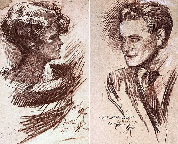 What The Great Gatsby Got Right About The Jazz Age  At The  Zelda Sayre Fitzgerald And F Scott Fitzgerald By Harrison Fisher   Cont Crayon On Paperboard National Portrait Gallery Smithsonian  Institution