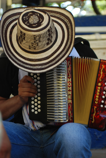 "A Colombia accordion player featured in Smithsonian Network's "" The Accordion Kings"" focuses intently. Photo courtesy of Smithsonian Networks."