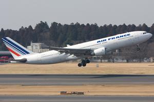 An Air France A330 takes off.