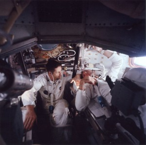 "Kerwin (left) and Brand during their 2TV-1 ""flight."""