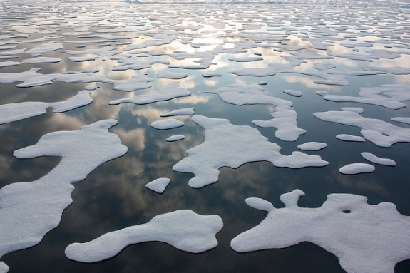 Arctic ice in 2011.