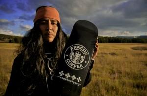 Armonyo Hume (White Mountain Apache), member of 4wheelwarpony skate teamPhoto courtesy of Dustinn Craig (White Mountain Apache/Navajo), 2008