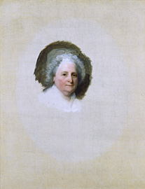 Martha Washington by Gilbert Stuart, National Portrait Gallery, Smithsonian Institution; owned jointly with Museum of Fine Arts, Boston