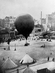 The Neptune, the first air mail balloon used during the Siege of Paris. NASM.
