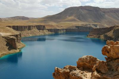 One of the six natural lakes of Band-e-amir (Credit: Alex Dehgan/WCS)