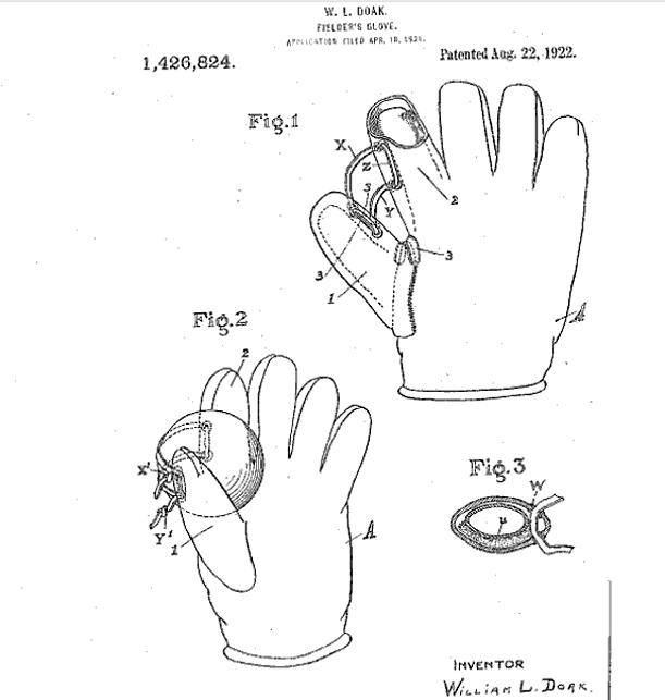 basebal glove patent