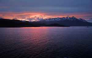 Sunset on the Beagle Channel (courtesy of flickr user Gerald5)