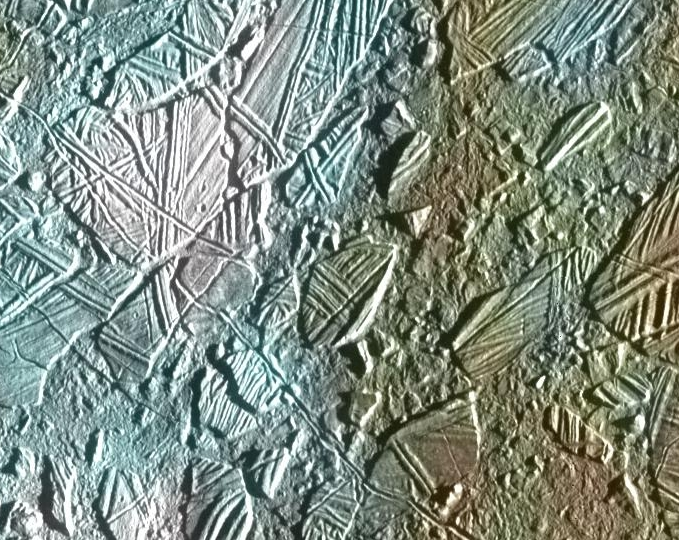 Europa's Chaos region: Icebergs over an ocean?