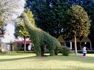 A brachiosaur topiary. Photographed by Mo Hassan.