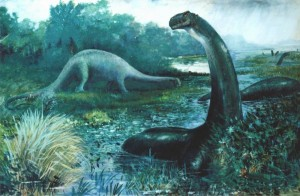 "A classic ""Brontosaurus"" from Charles R. Knight"