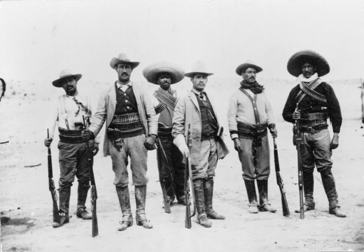 General Campa and staff, Mexican War (c. 1912). Image courtesy of the Library of Congress