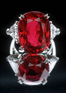 The 23.1-carat Carmen Lucia Ruby, one of 10,000 gems in the Smithsonian collections (Image Credit: Chip Clark, Smithsonian Institution)