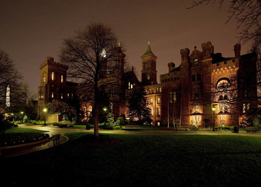 The Smithsonian Institution's Castle was bright with lights before Earth Hour began on Saturday. Photo by Eric Long.