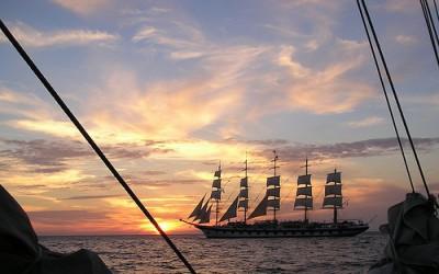 A clipper ship, courtesy Flickr user Trodel