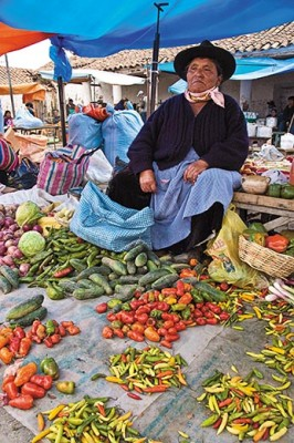 At a market in Cochabamba, Bolivia, chilies have been on sale for centuries