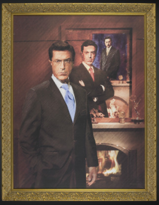 Stephen Colbert's portrait, which he donated to the American History Museum last year, will come down tomorrow. Image courtesy of the museum.